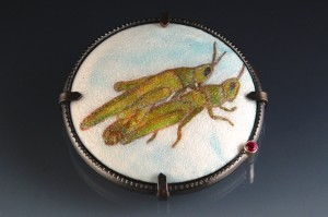 mating grasshoppers_Hall