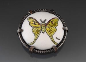 Luna moth brooch_2014_small