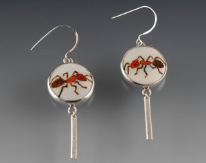 Hall-57_Red Ant Earrings